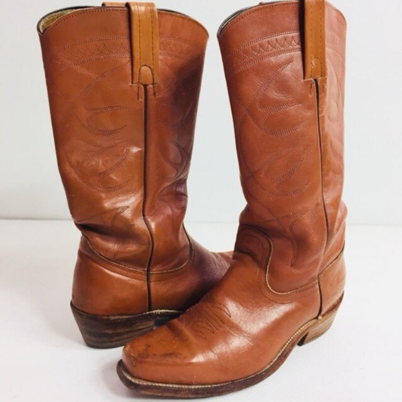 821e3e0fb99 Frye Cowboy Boots Vintage Leather Western Riding
